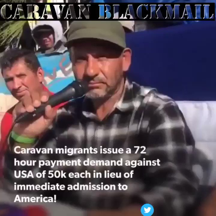 Caravan Blackmail? So Much Fun! After an Exhausting Day of Hard Work , Refugees deserve a little fun . #ThursdayThoughts @USANEWS007 @DineshDSouza #FridayFeeling #SaturdayMorning #SundayThoughts #Migrants #BuildTheWall @TuckerCarlson @kimguilfoyle