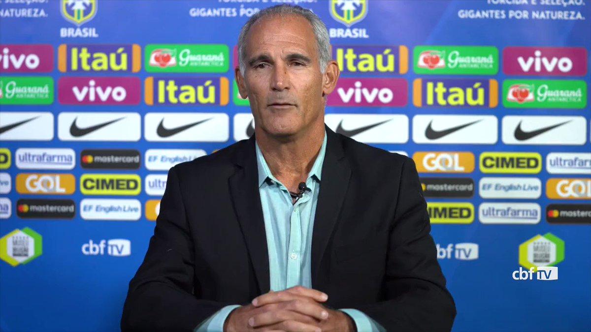 Fala, Carlos Amadeu! 🗣️  Técnico da #SeleçãoSub20 explica trabalho envolvido na elaboração da lista de convocados para o Sul-Americano. 📋⚽🇧🇷 #GigantesPorNatureza
