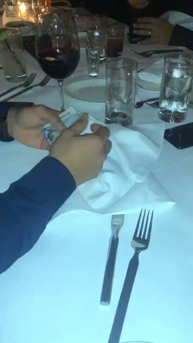 When you insist on paying the bill