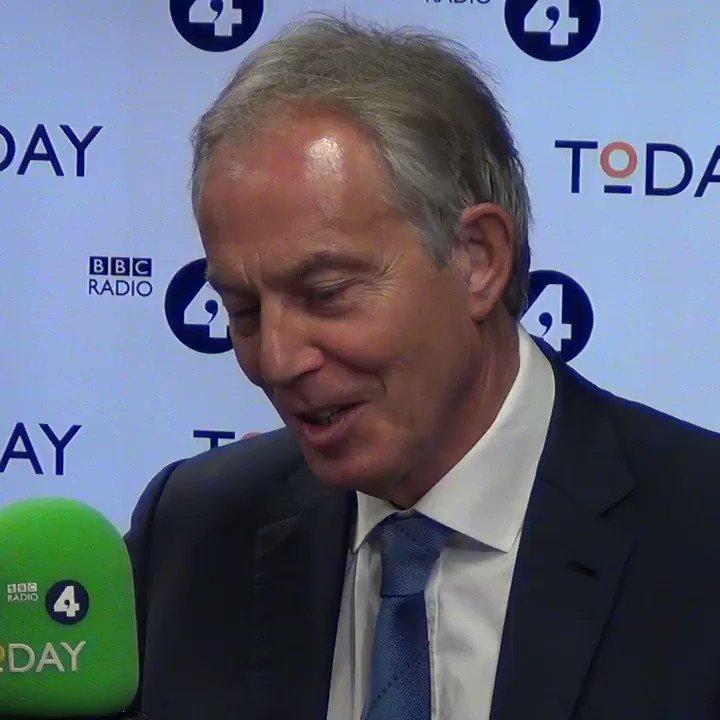 BBC Radio 4 Today's photo on Tony Blair