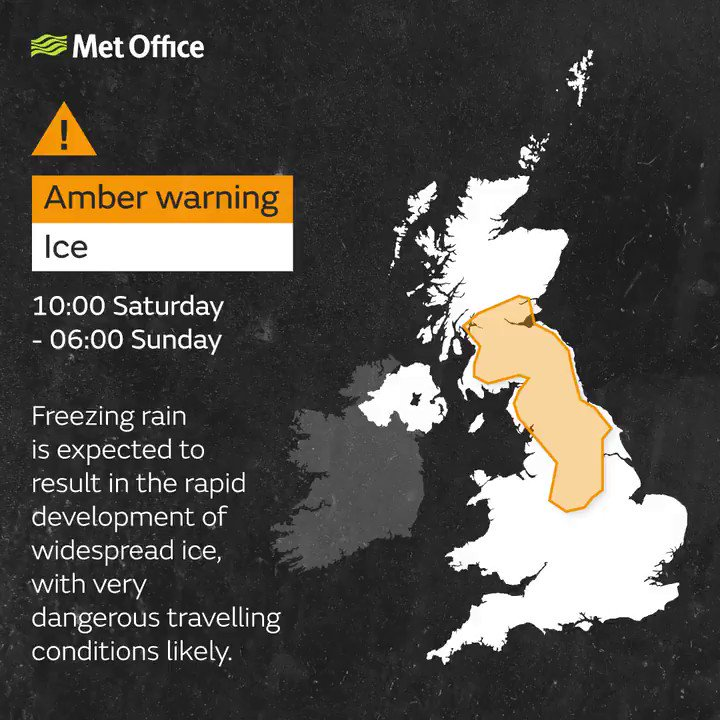 Last minute Christmas shoppers are being warned to take care this #Saturday We are expecting some #FreezingRain. Stay #weatheraware & keep an eye on http://bit.ly/WxWarning  for the latest info❄️
