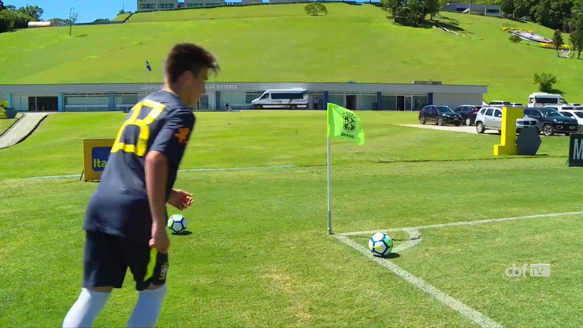 De olho na garotada! #SeleçãoSub15 enfrentou jogo-treino contra o Vasco Sub-16 e conquistou a vitória por 2 a 1. Vem ver os gols da partida! ⚽🇧🇷 #GigantesPorNatureza