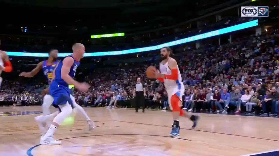 Good guy Steven Adams gives up the and-1 attempt to save Mason Plumlee's life.