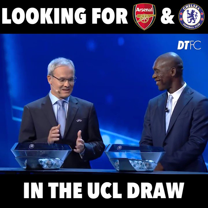 BREAKING: Live reaction from the @ChampionsLeague draw... #UCL