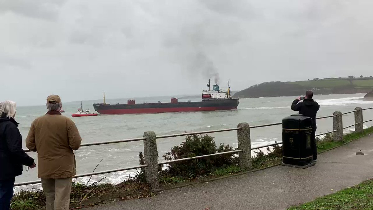 Russian cargo ship freed after running aground off Cornwall coast