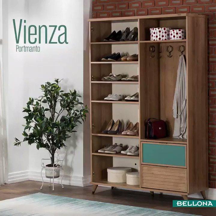 Onun botlarına, senin topuklu ayakkabılarına, yağmur çizmelerinize kısacası Vizenza'da tüm ayakkabılarınıza yer var. http://bit.ly/VienzaPortmanto #Bellona #Dekorasyon #TarzArayanaBellona #interiordesign #decor