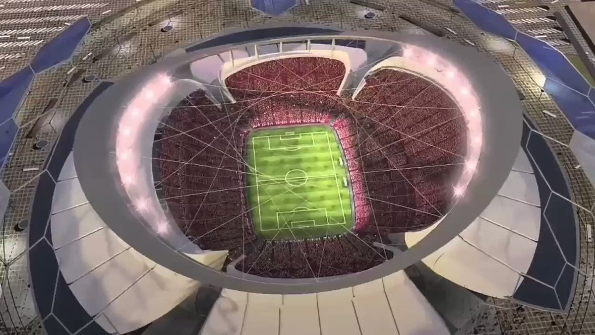 The #FIFA19 final will be held at the amazing #lusailstadium . Check out these other mesmerising sports arenas from around the world