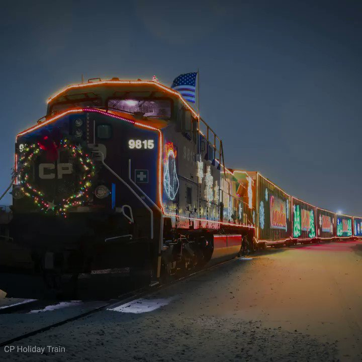 Image for the Tweet beginning: The Holiday Train events have