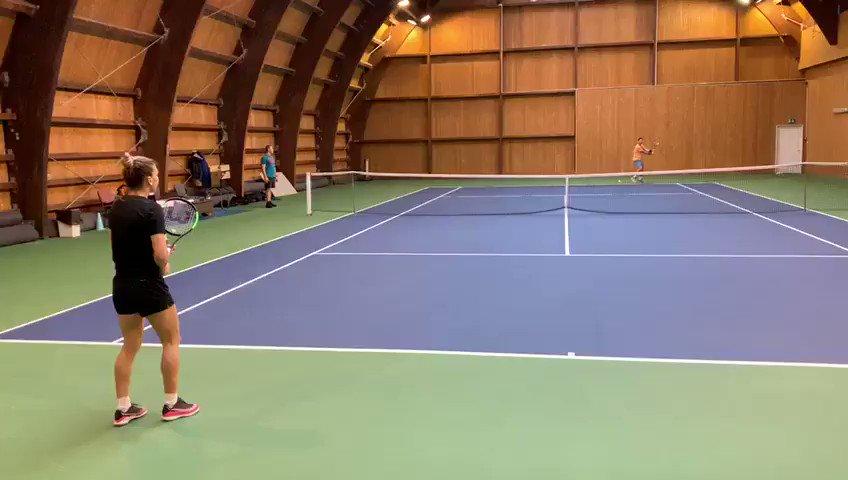 Loving my new rackets so far ❤️ @WilsonTennis
