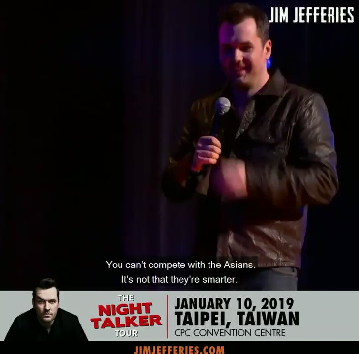 jim jefferies on twitter the night talker tour is coming to asia