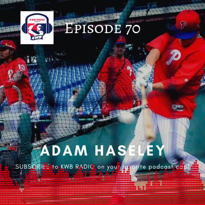 Episode 70 drops SUNDAY with #Phillies prospect @adamhaseley7. SUBSCRIBE itunes.apple.com/us/podcast/kwb…