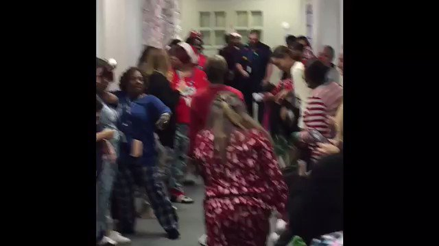 This is how we celebrate before going home for the Winter break! When the children are away, the staff will play!  #AmazingStaff #LeadUpChat