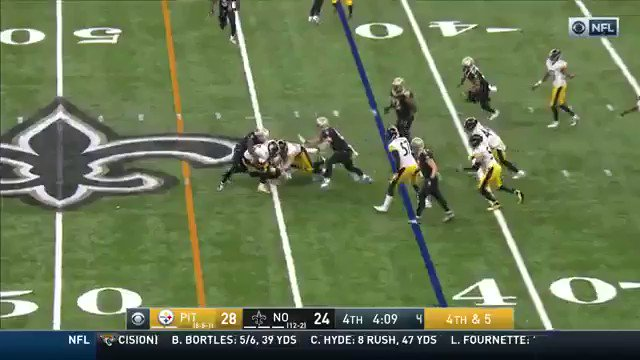 That's how you celebrate being clearly short of a first down