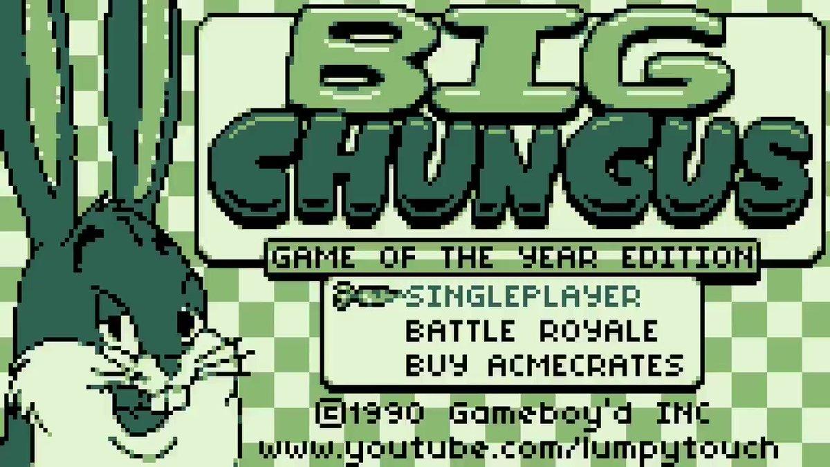 Lumpy On Twitter Big Chungus Gameboy D Full Video Https T Co