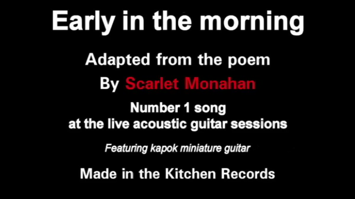 Early in the morning. #freemusic #music #live #unplugged #uncut #accoustic #guitar #acousticguitar #video #musicvideo #musicvideos #scarletmonahan #singer #songwriter #poetry  128