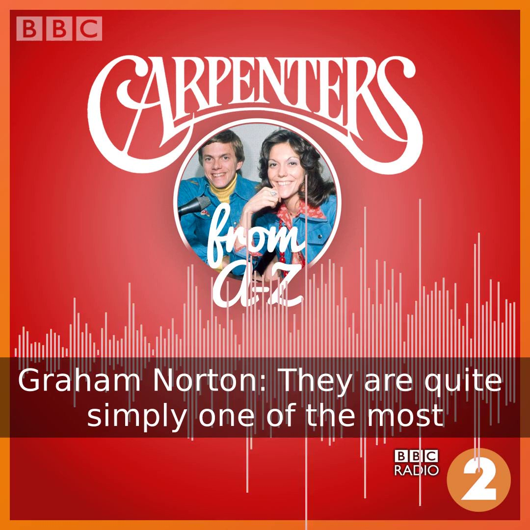 The Carpenters pioneered melodic, melancholic pop and sold over 100 million records. Listen as @grahnort interviews Richard Carpenter, exclusively for BBC Radio 2. 🧡🎤  Available now on @BBCSounds ▶️https://bbc.in/2V4CPt0