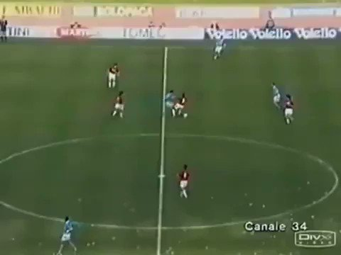 Paulo Di Canio rips apart AC Milan's star studded defence back in 1994...