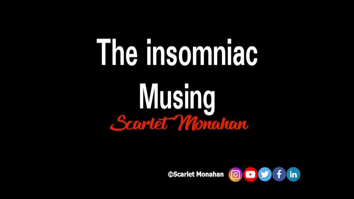 The insomniac.. Musing. #poetry #poetryvideo #video #audio #sound #soundscape #micropoem #smallestpoemintheworld #minipoem #aquarius #ageofaquarius #poem #cosmic #hippy  64