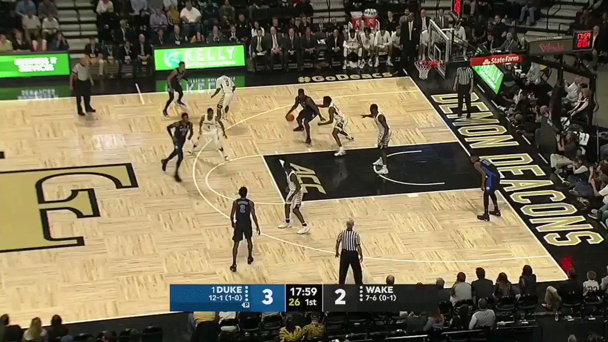 In the paint. Behind the arc.  Zion's got 8 points early. https://t.co/5QB36M62Ih