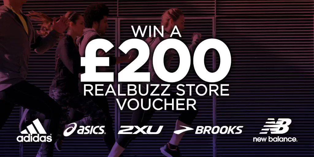 Need a #fitness gear overhaul? Enter the comp to win a £200 @realbuzzstore voucher to spend on #running and fitness shoes, clothing and accessories. All you need to do is RT + Follow to #WIN a £200 voucher. Closing date is 31/01/2019 at 4pm. Good luck! #realbuzzJan19Voucher.