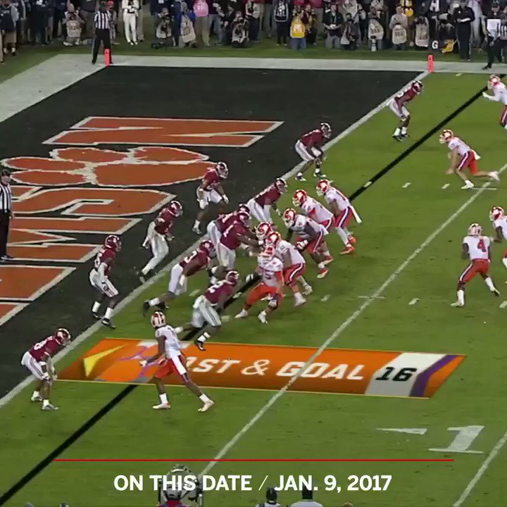 On This Date: Deshaun Watson found Hunter Renfrow to give @ClemsonFB the title �� https://t.co/G62Vmh0Lqp