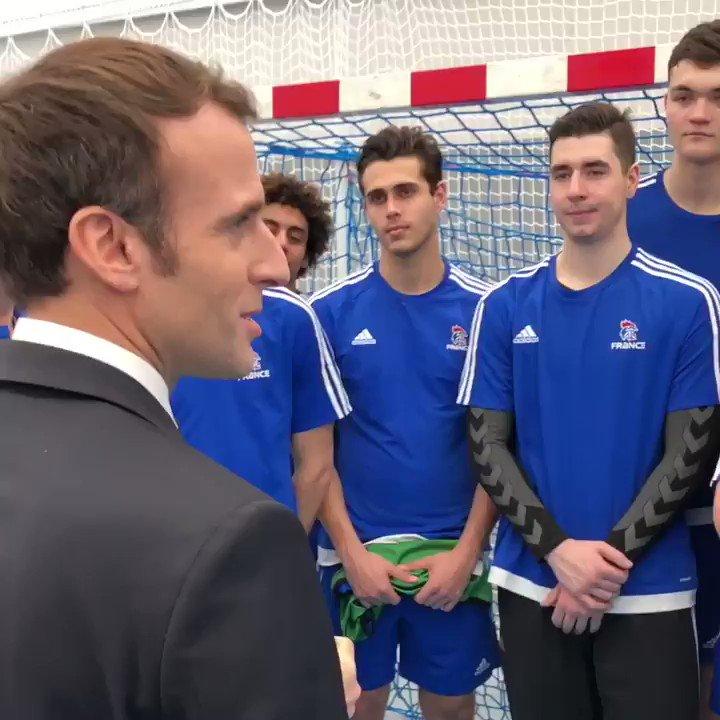 À la nouvelle Maison du Handball à Créteil. Aux côtés des Champions d'aujourd'hui... et de demain !