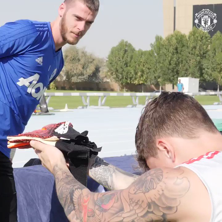 🧤 Your tools for the day are ready, @D_DeGea.   #DaveSaves 🤝 @VLindelof