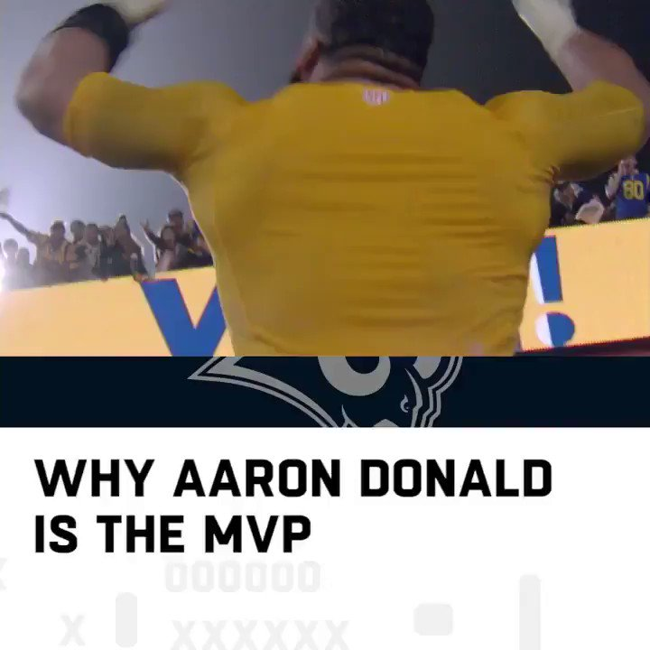 Aaron Donald for MVP? �� #NFLHonors  (by @pizzahut) https://t.co/eOBCycYnv1