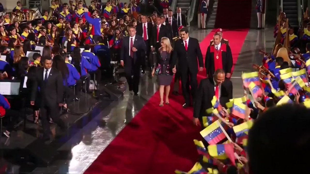 With pomp and show, Nicolas Maduro was sworn-in today as President of Venezuela. But, critics question the legitimacy of his power says @brianpablo10 who was at the inauguration for @ReutersTV @Reuters