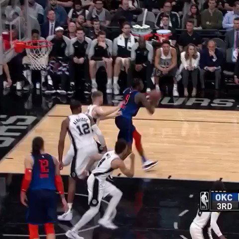 NO-�� RUSS  He's up to 20 PTS, 7 REB and 13 AST on @NBAonTNT. #ThunderUp https://t.co/dzKOCsTNXr