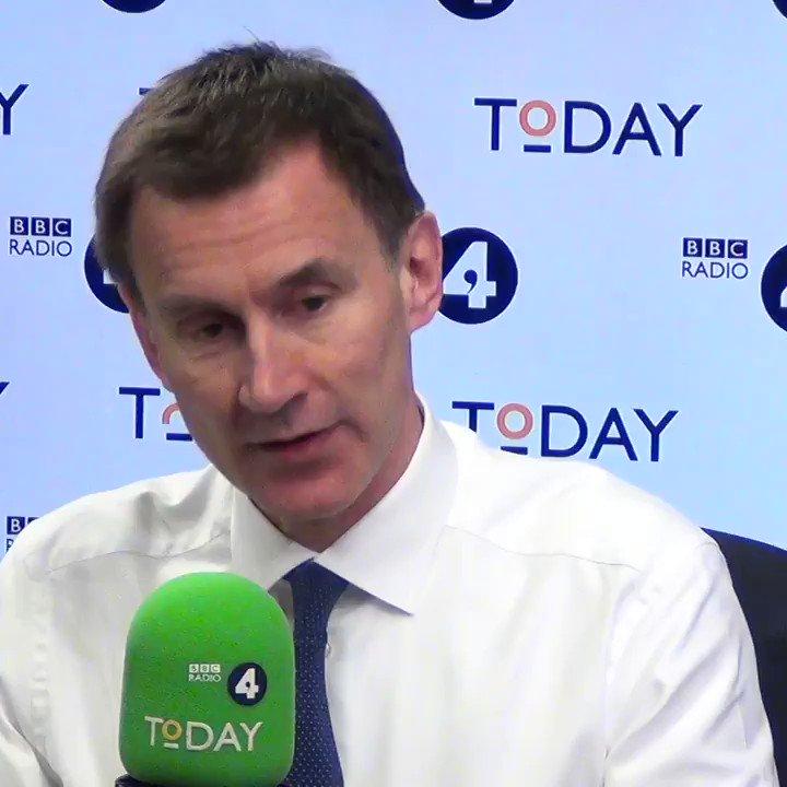 BBC Radio 4 Today's photo on Foreign Secretary Jeremy Hunt