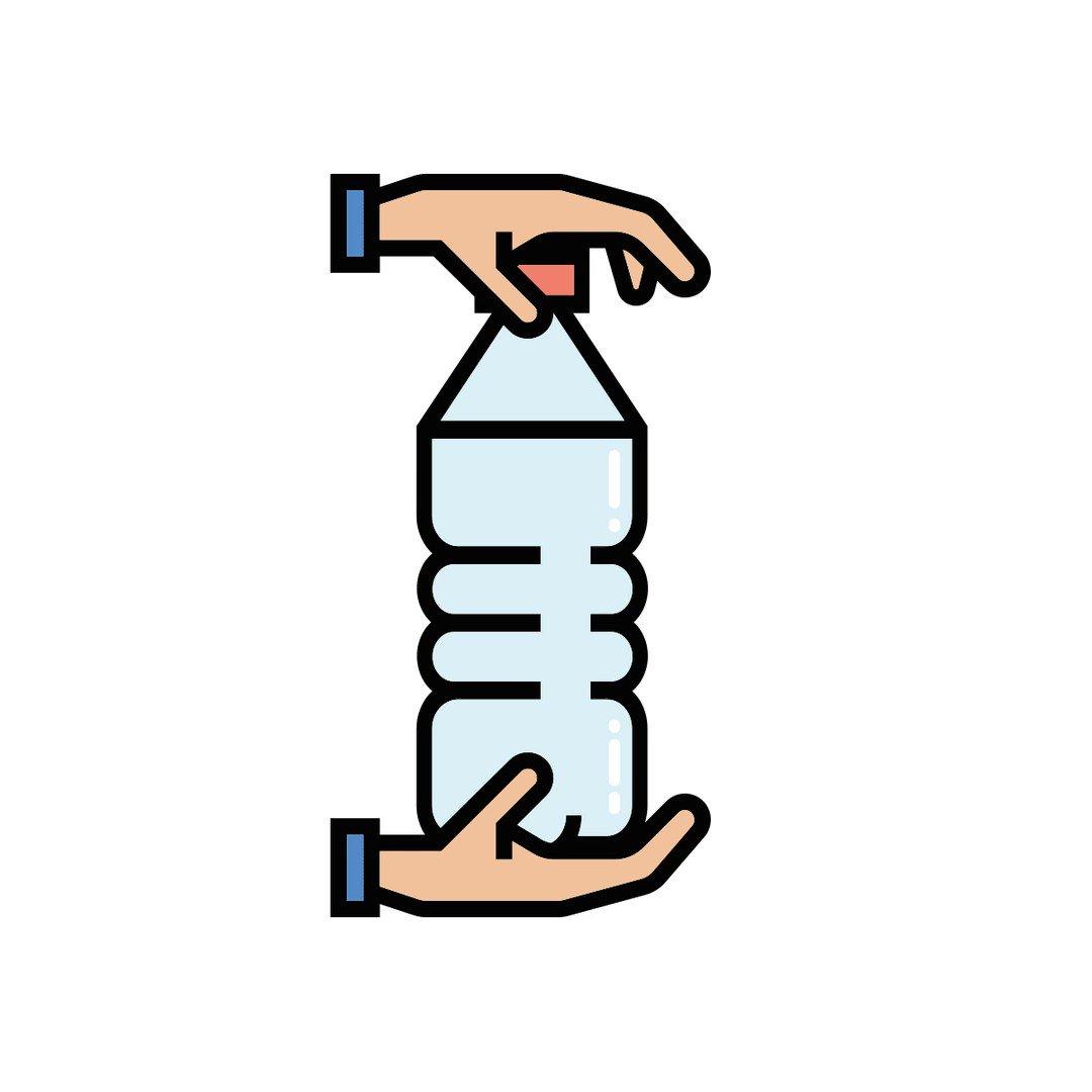 Image for the Tweet beginning: Appiattisci le bottiglie di plastica