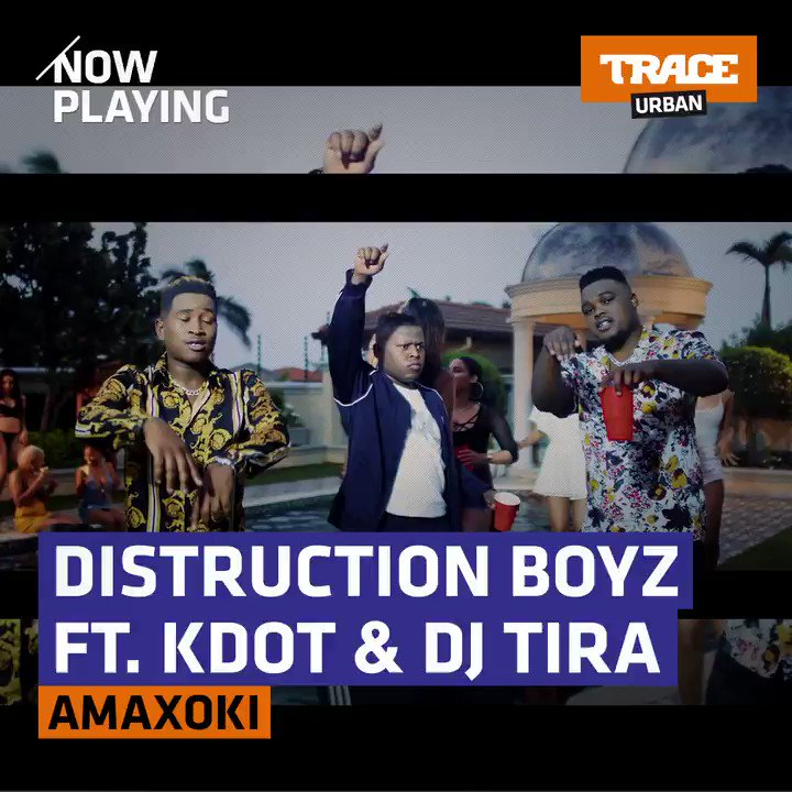 Check out @DistructionB latest video for their 🔥 track Amaxoki Ft. @DJTira & K-Dot on TRACE Urban (@DStv Channel 325)