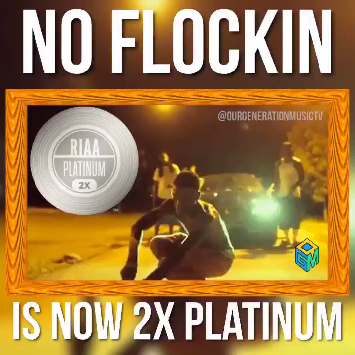 ".@KodakBlack1k's ""No Flockin"" is now 2x platinum 💿💿"