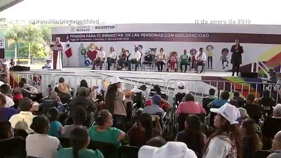 Gobierno de M茅xico's photo on #Pensi贸nDiscapacidad