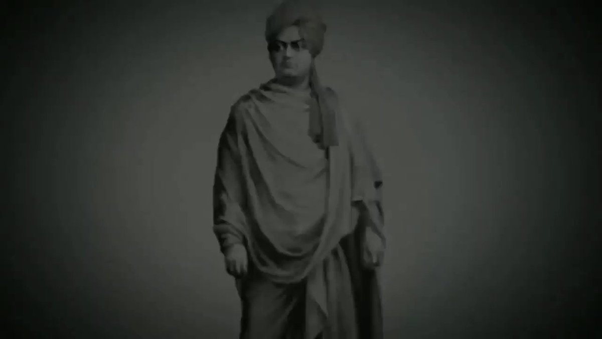 """""""Arise, awake and stop not till the goal is reached.""""  Remembering these powerful words, and the rich thoughts of the venerable #SwamiVivekananda on his Jayanti.  He emphasised on the ideals of service and renunciation.   His belief in Yuva Shakti was unwavering."""