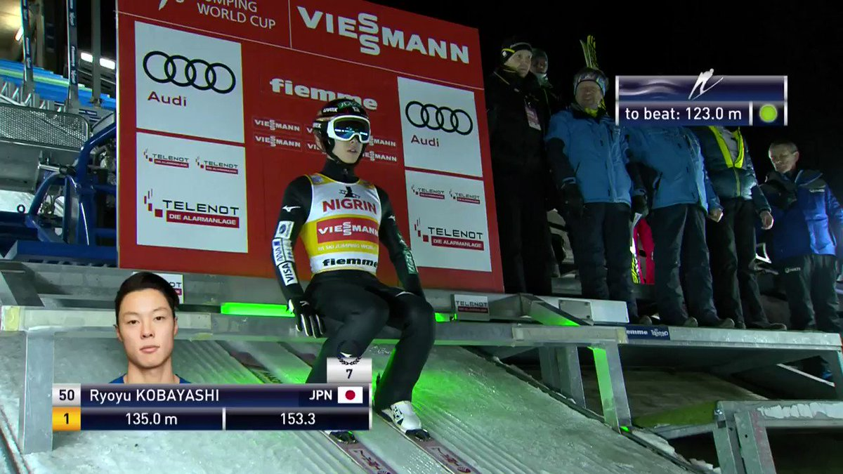 The winner: @ryo_koba8118's second jump in today's World Cup competition in #ValdiFiemme! #skijumping #FISskijumping https://t.co/7Xd76Qmigs