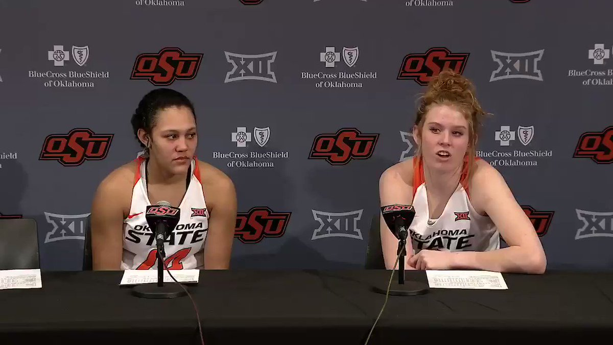 "4️⃣8️⃣ points, 9️⃣ assists for #okstate's dynamic duo of @vivian_gray_30 and Braxtin Miller on Saturday. The secret to their success?   ""Our chemistry off the court starts the whole thing."""