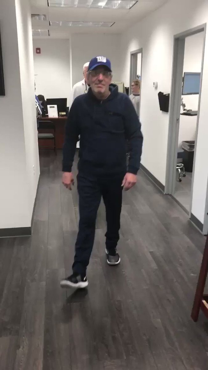 #PatientSuccessStory Joseph walks without a cane or limp only 4 days after a same-day #DirectAnterior THR. Thanks to Dr. Boiardo of #CrossCountyOrthopedics who used Intellijoint HIP to aid in accurate implant positioning to ensure the best outcome for Joseph. @CarePointHealth