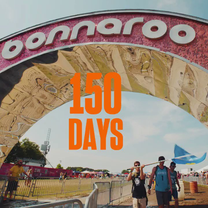 Image for the Tweet beginning: 150 Days to Bonnaroo! 🙌🦄🌈🏕 Roo