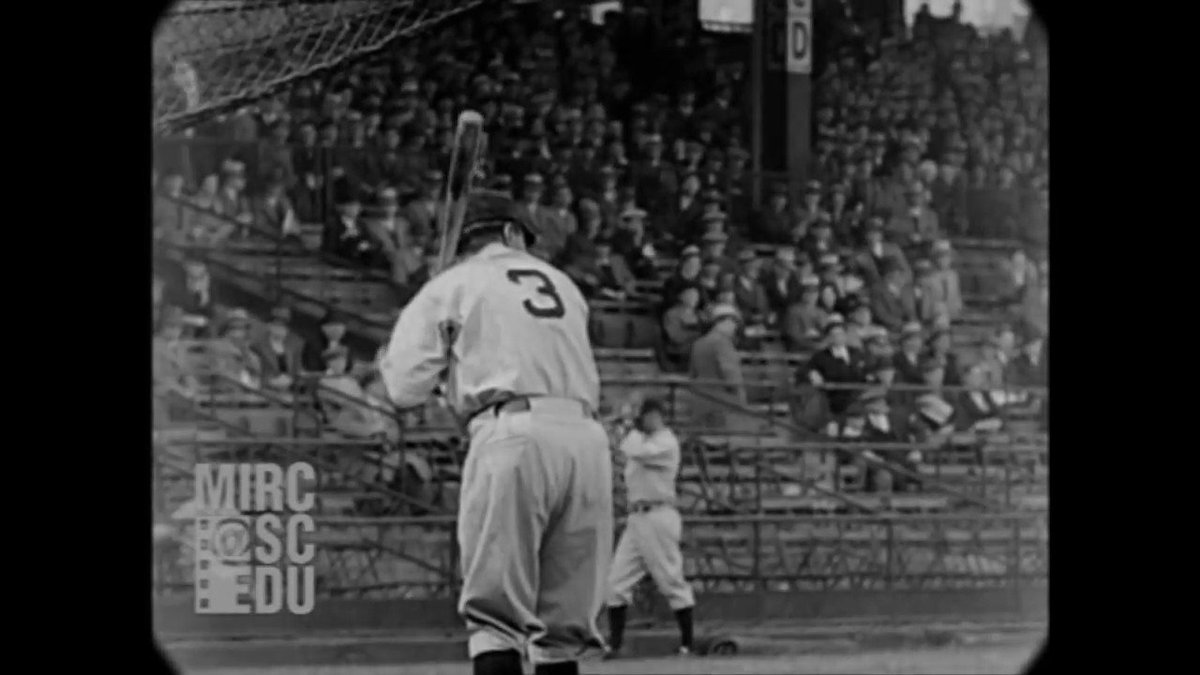 Some of the clearest footage of Babe Ruth and Lou Gehrig taking batting practice, 1931. @Yankees