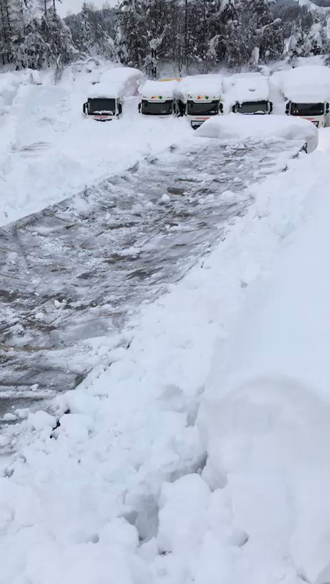 Just a few inches of snow in Austria