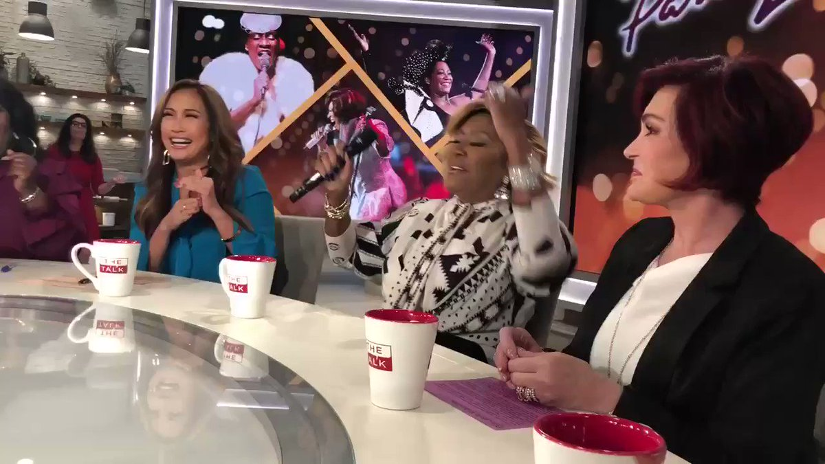 Surprise impromptu performance by  @MsPattiPatti in @TheTalkCBS commercial break. She's incredible! What a voice. #thetalk