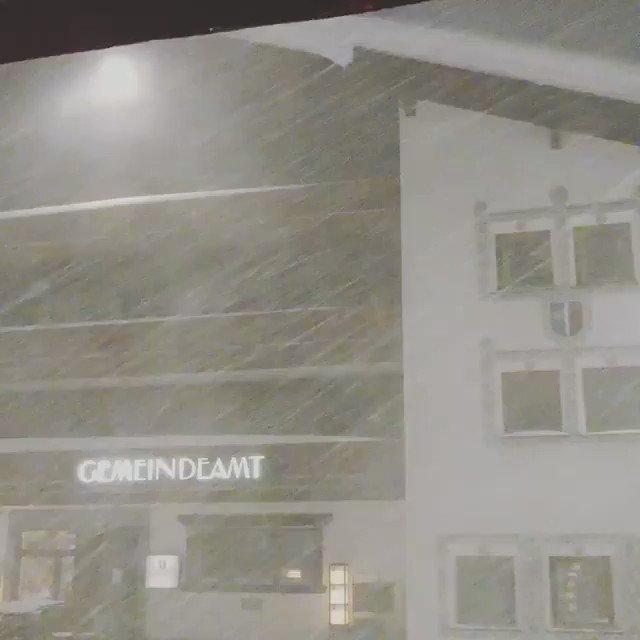Image for the Tweet beginning: #Blizzard in Arlberg, Austria this