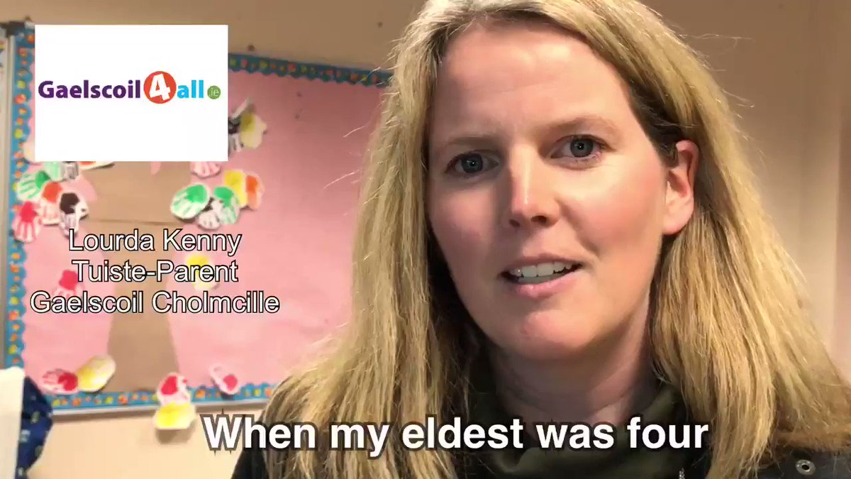 """""""I wanted them to have the whole cultural experience that I had growing up""""   Listen to why Lourda chose a #Gaelscoil for her children   Éist le tuairim na dtuiste ▶️   LAST CHANCE today to vote for a Gaelscoil in your area http://patronage.education.gov.ie  Eolas http://www.gaelscoil.ie"""