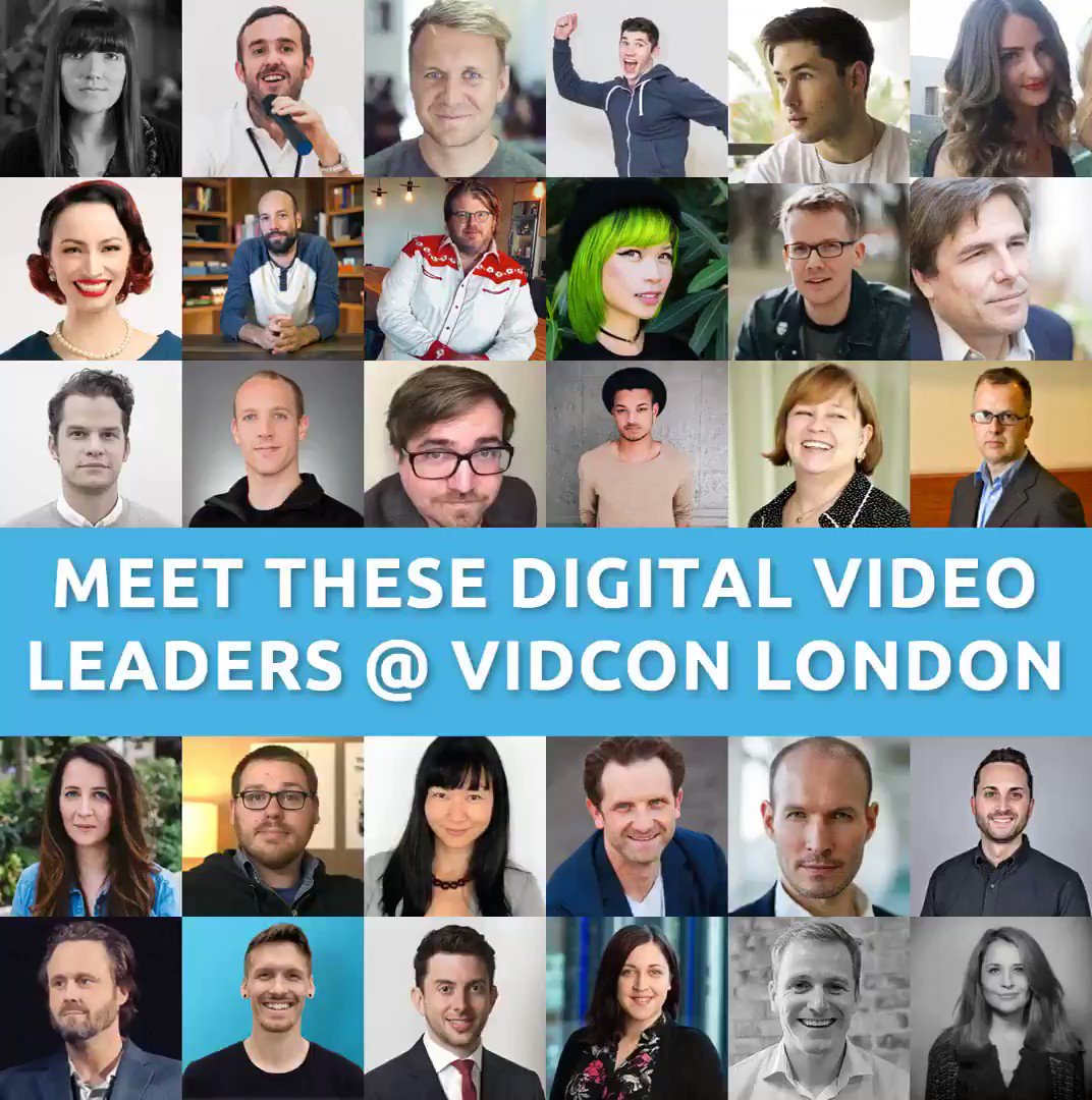 Such an awesome line-up for the #VidConLDN Industry track