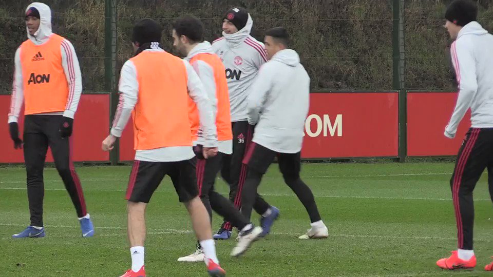 Giuseppe Rossi training with the United first team at Carrington. #mufc [MEN]