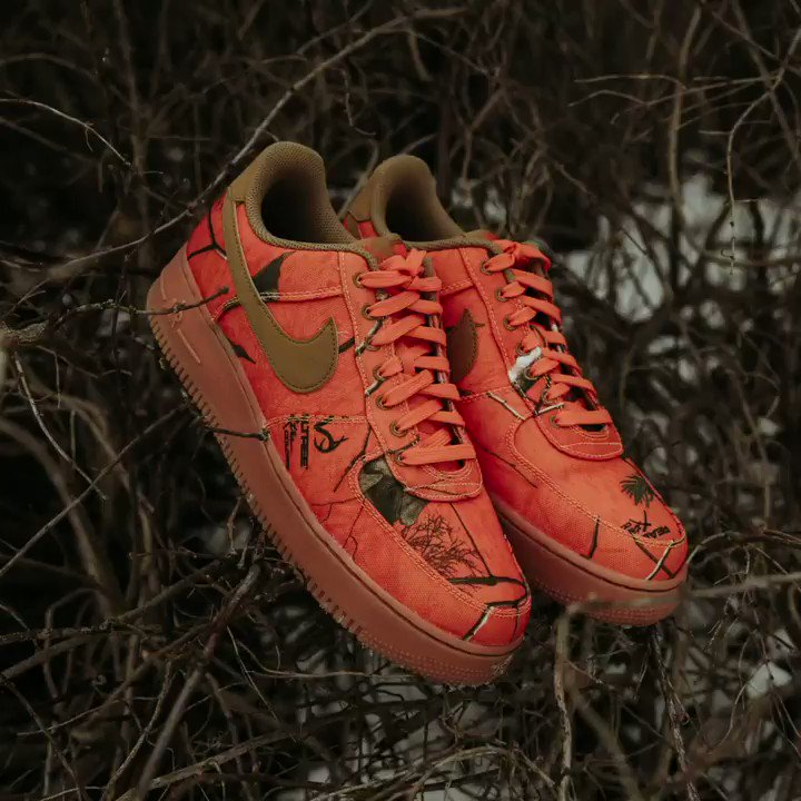 """promo code 04877 37a8d A fresh new look for the AF1  07 LV8 with a canvas """"Real Tree"""
