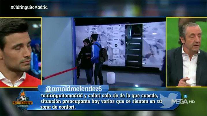 """""""El Madrid tiene un PROBLEMA DE APTITUD y de FÚTBOL. Hay que SEÑALAR a SOLARI"""". @cristobalsoria SE QUEDA A GUSTO en #ChiringuitoMadrid"""