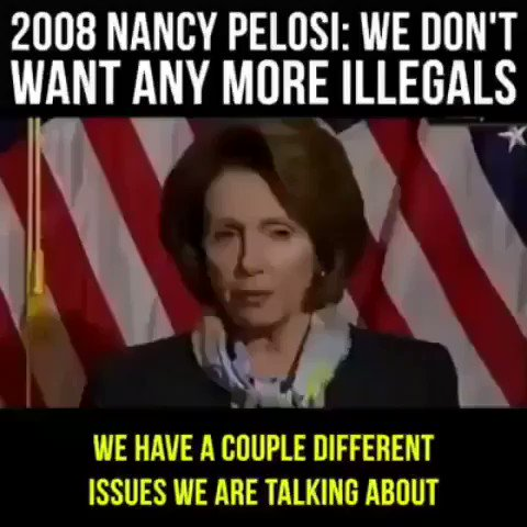"🔥Ok now this little gem deserves a resuscitation! Hypocrite Nancy Pelosi in 2008 states ""WE DONT WANT ANY MORE ILLEGALS""  #TermLimits"